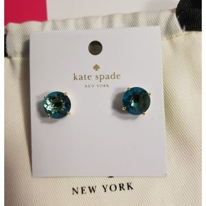 New Kate Spade Green Stud Earring with dust pouch